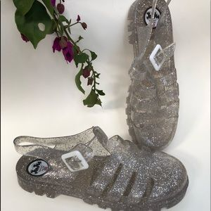 Juju Jellies Sandals Multi Glitter UK3 Size 6